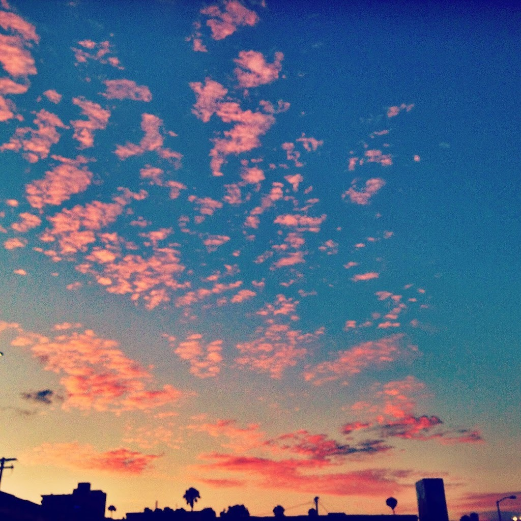 Gorgeous pink sky in San Diego summer