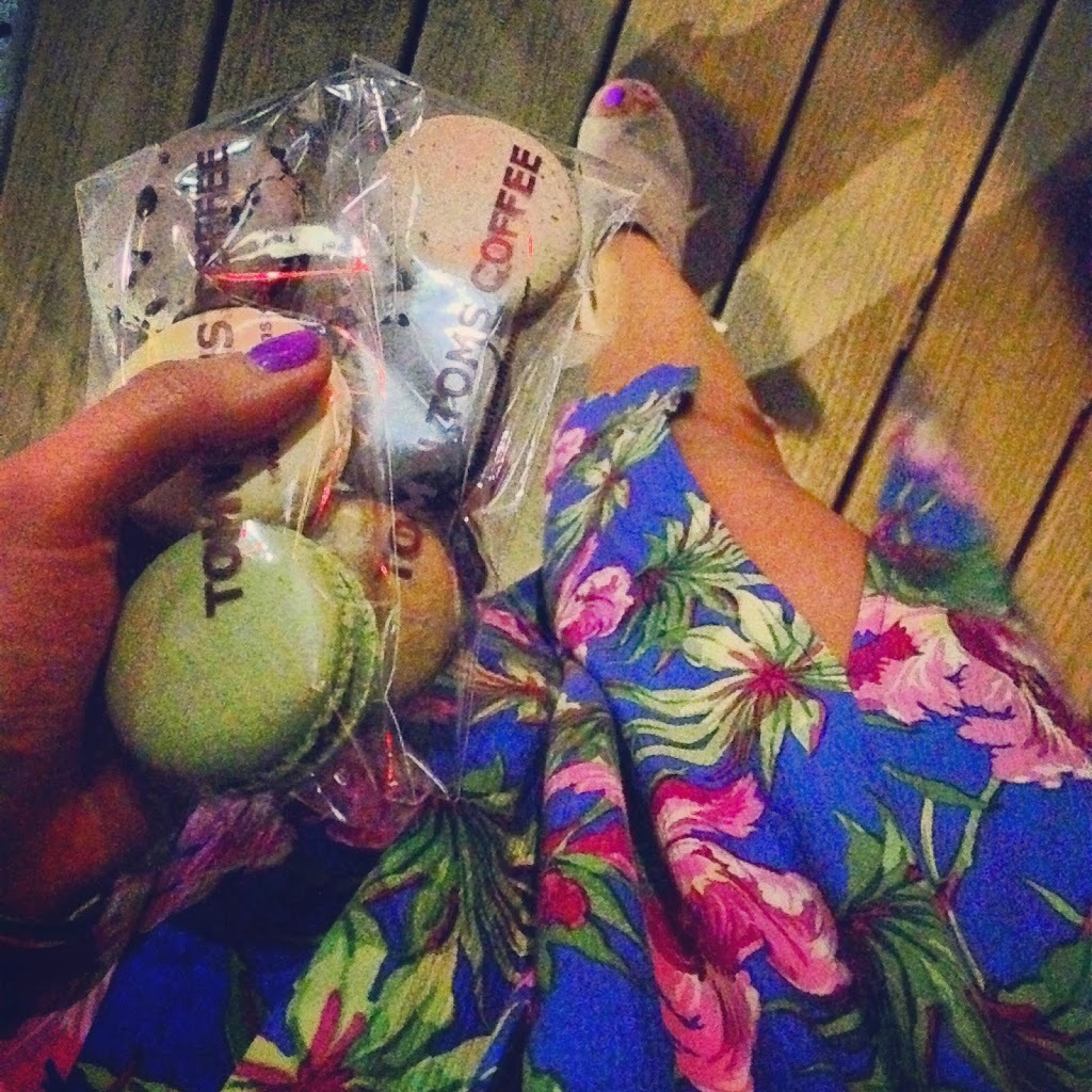 Macaroons and floral skirt