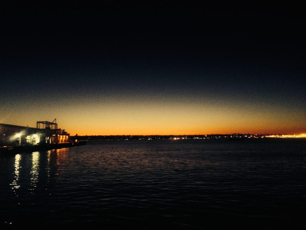 San Diego Gorgeous Sunset from San Diego Seaport Village