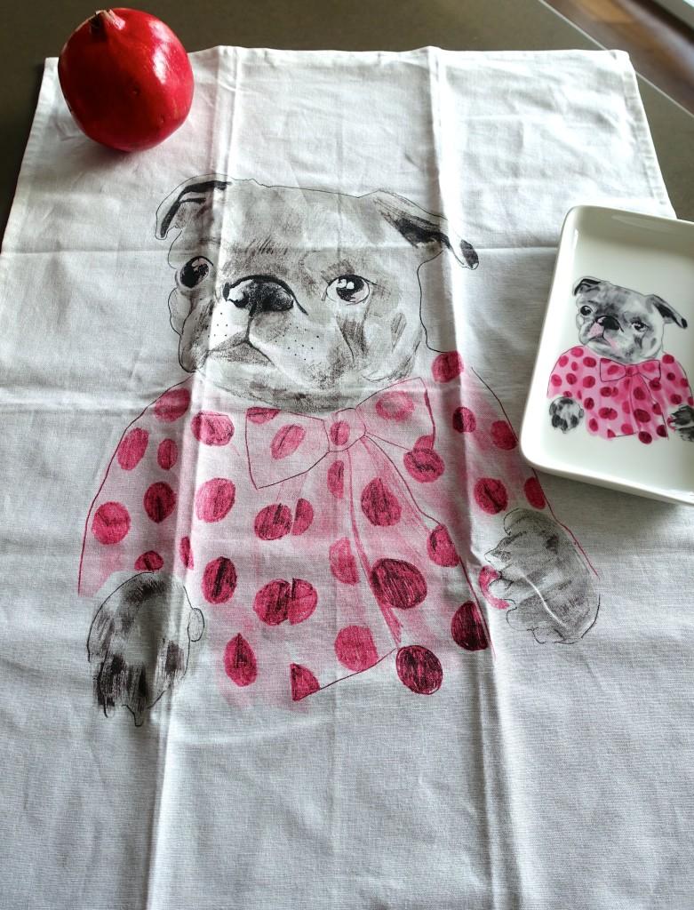 Frenchie Tea Towel H&M Home