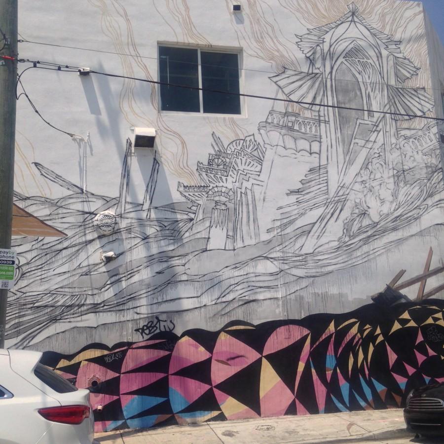 Japanese Mural in Wynwood Walls Miami
