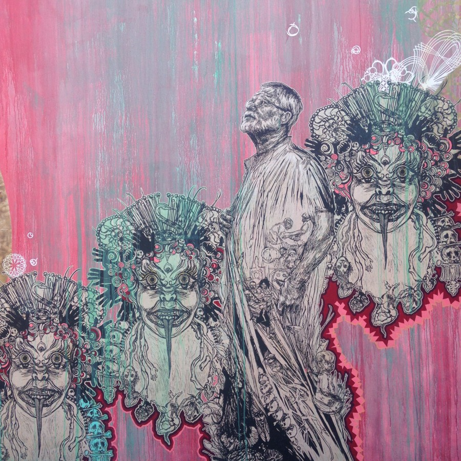 Mural by Swoon in Wynwood Walls Miami