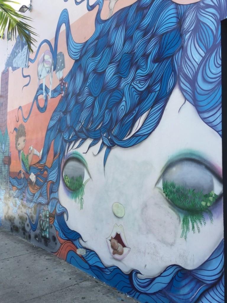 Os Gemeos mural in Wynwood Walls, Miami