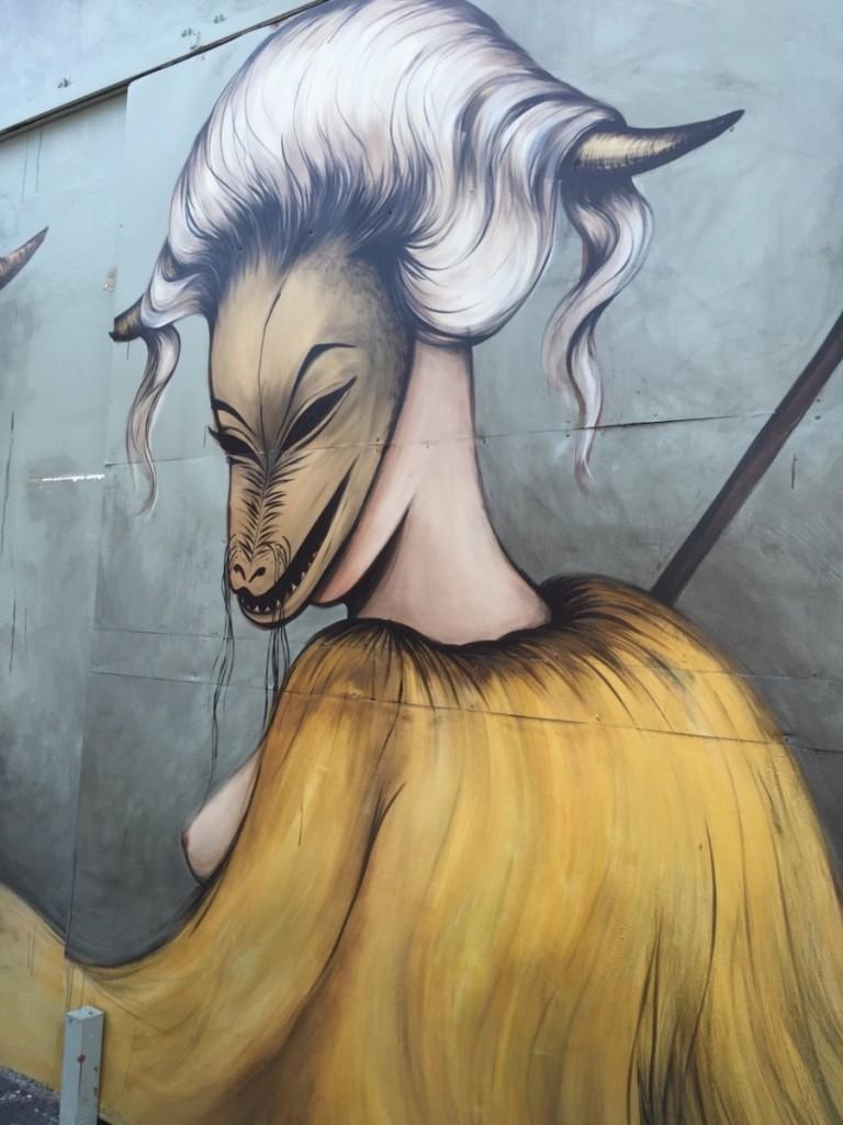 Miss Van mural in Wynwood Walls, Miami