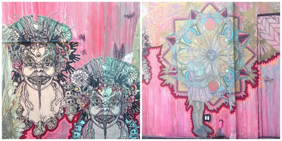 Swoon mural in Wynwood Walls, Miami