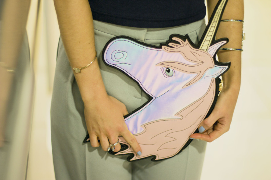 Unicorn shaped clutch by Asos