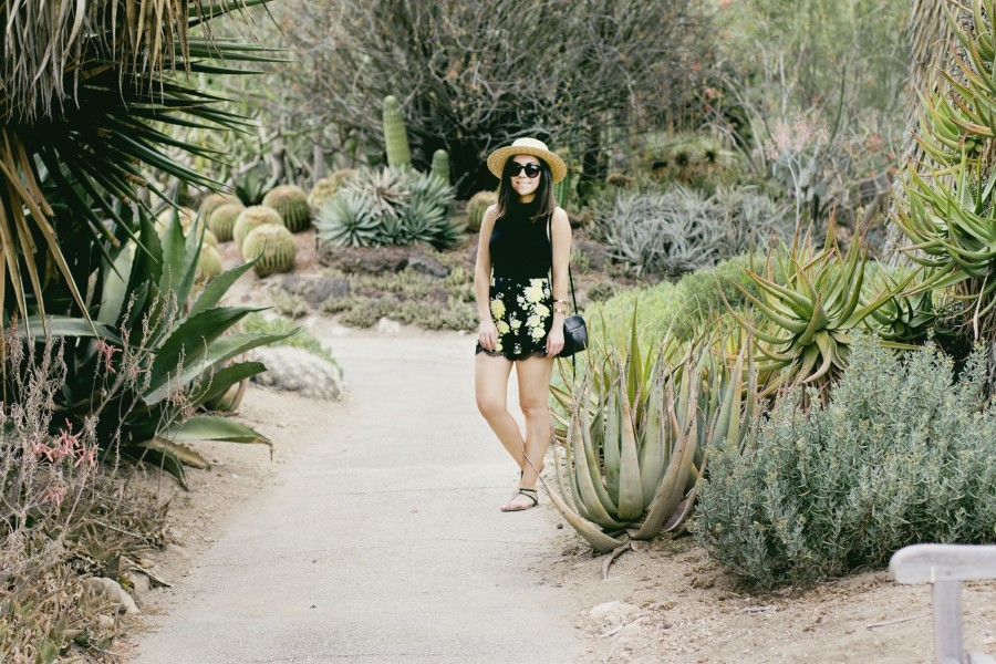 Nihan posing at the Huntington Library and gardens cactus garden