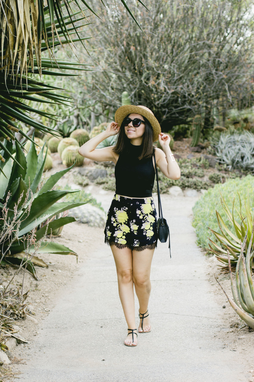 Nihan walking in Huntington Gardens cactus garden