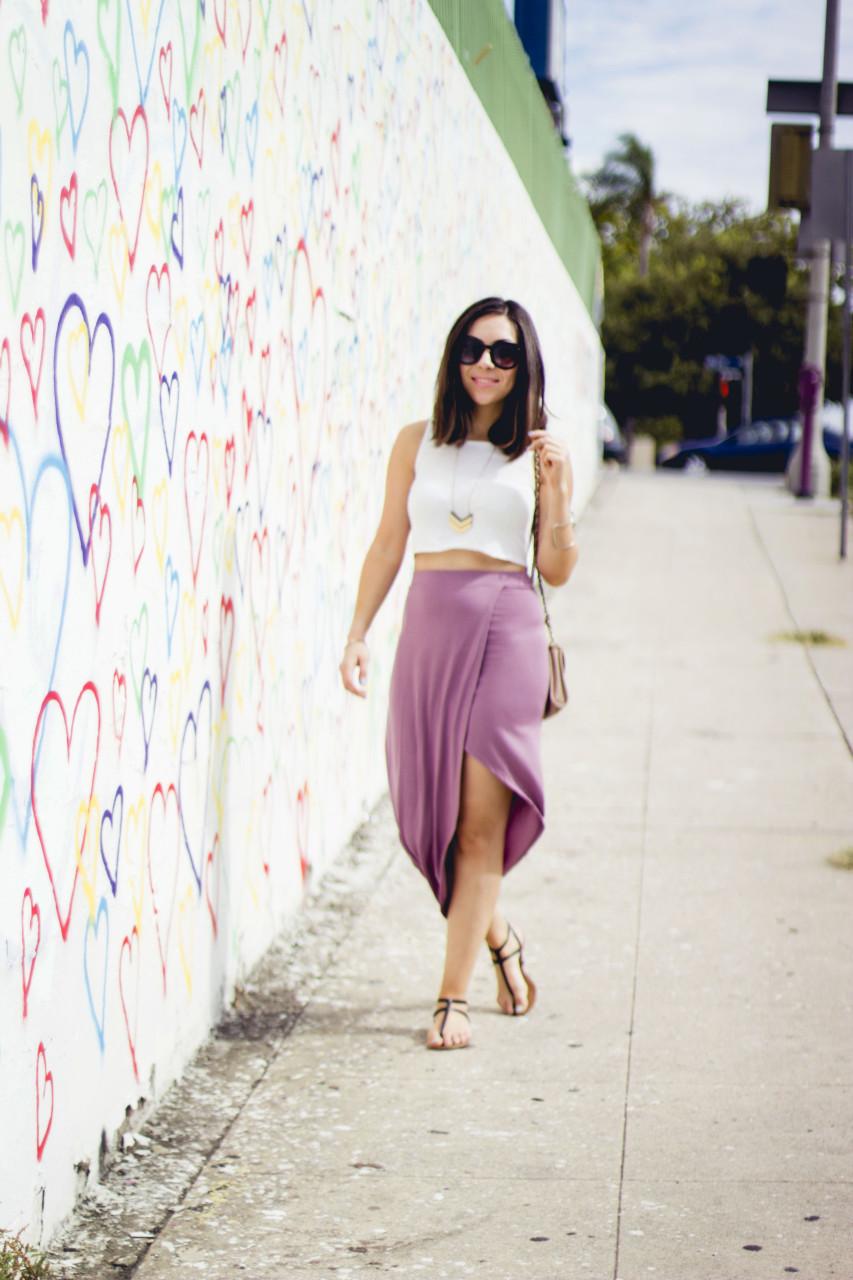 Draped Asymmetric Skirt