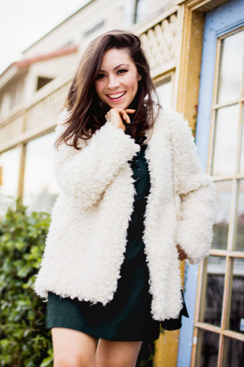 How to style a Faux fur jacket