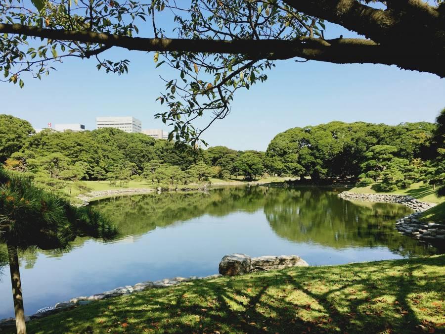 Beautiful Hamarikyu Gardens Tokyo Japan