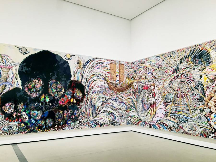 Takashi Murakami In the Land of the Dead, Stepping on the Tail of a Rainbow 5 must see artwork at the Broad Museum
