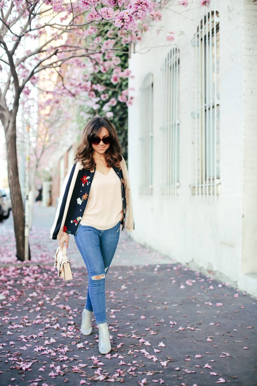 Style with Nihan How to style Zara printed bomber jacket