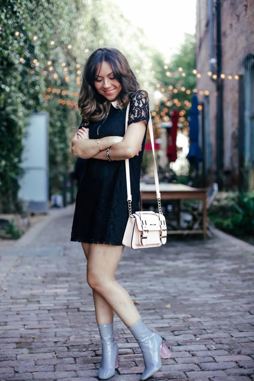 Zara Black lace mini dress