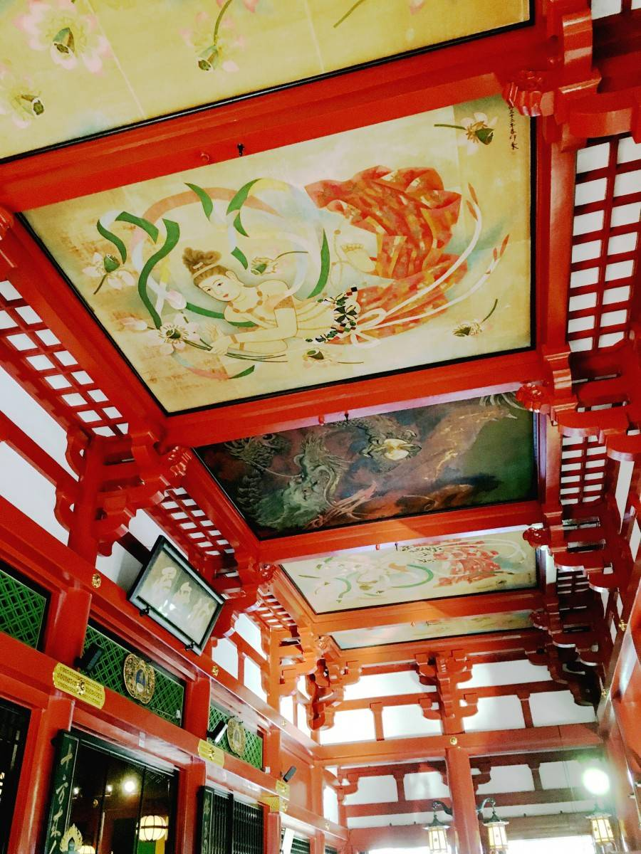 Ceilings Sensoji Temple Asakusa Ceiling floor pattern