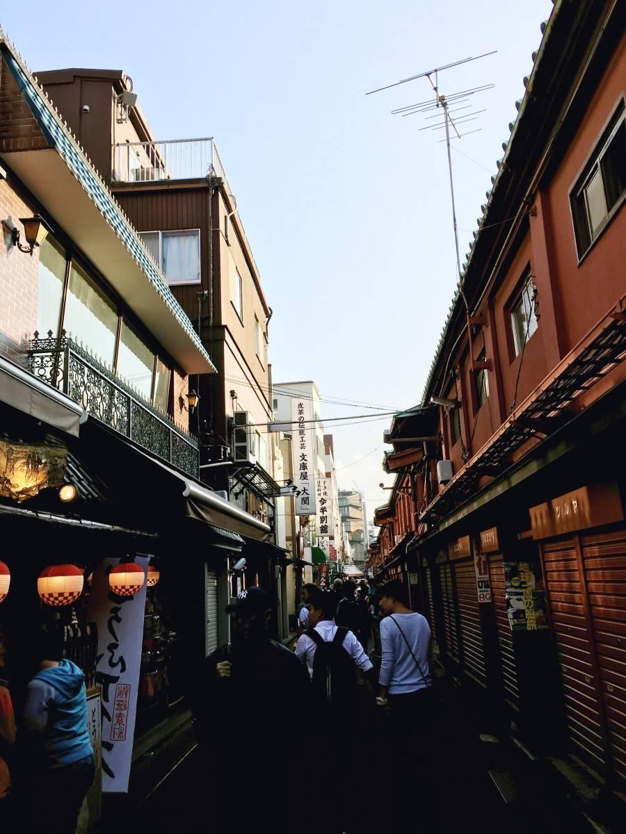Streets around SEnsoji Temple in Asakusa