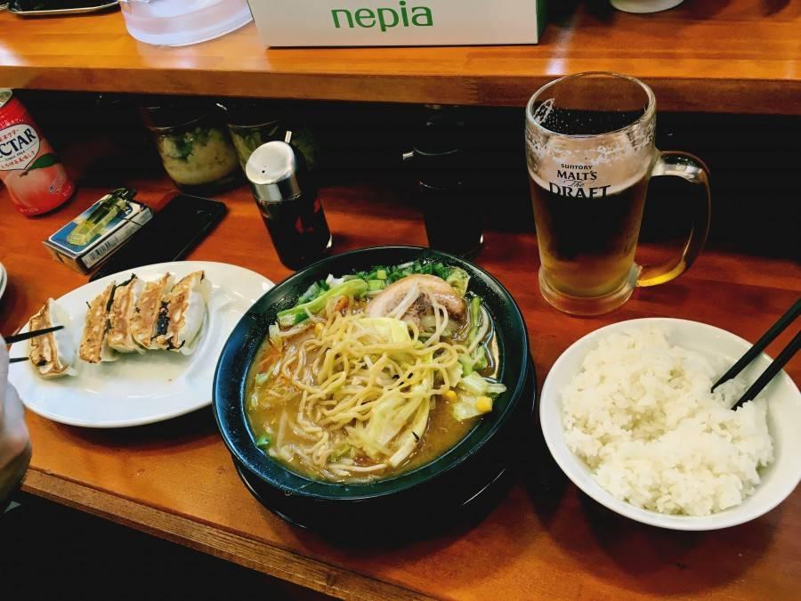 Ramen and pork buns in Asakusa