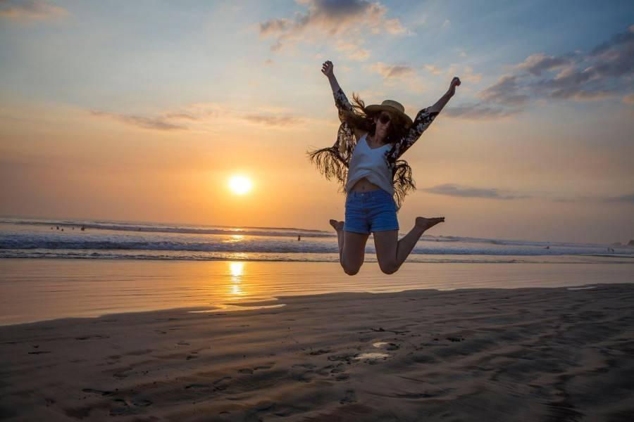 Costa rica sunset kimono and jean shorts