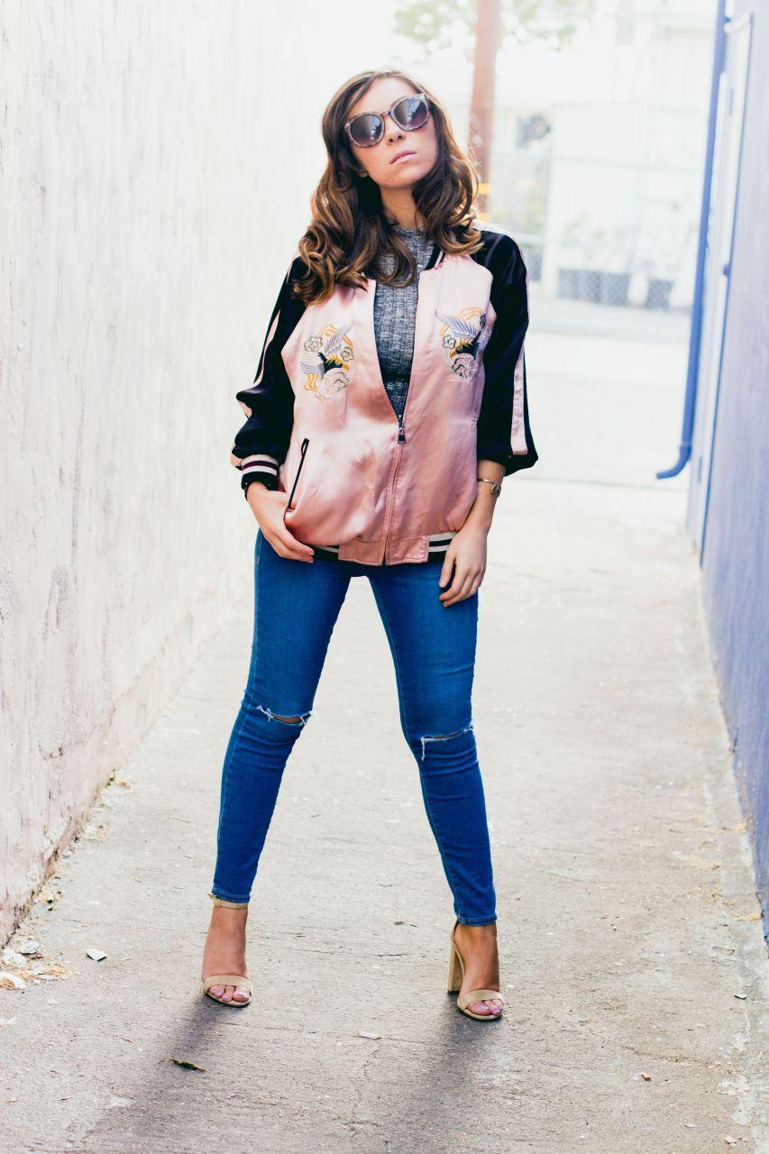 Zara Japan print bomber jacket