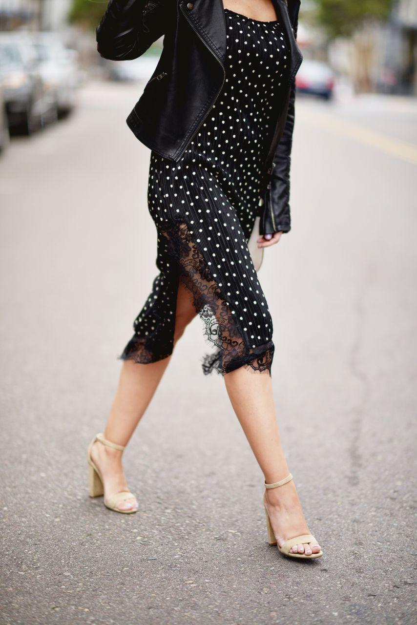 Sexy lace trim slip dress 9