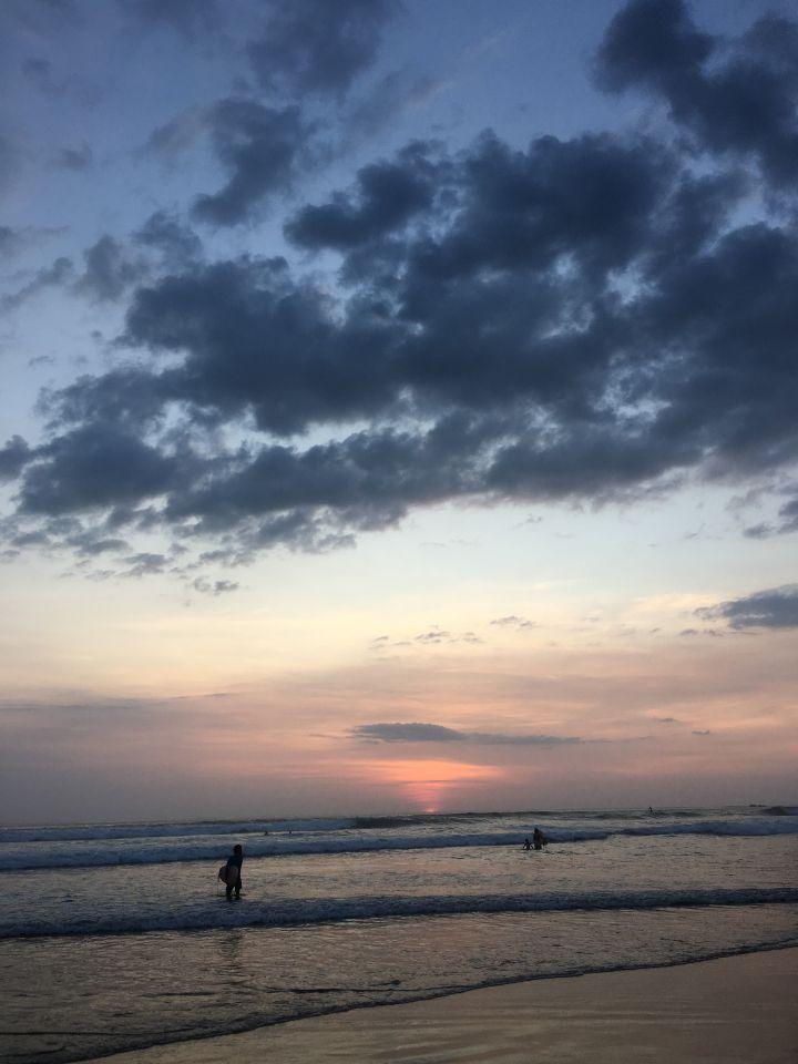 Amazing sunset over the ocean Nosara, Costa Rica