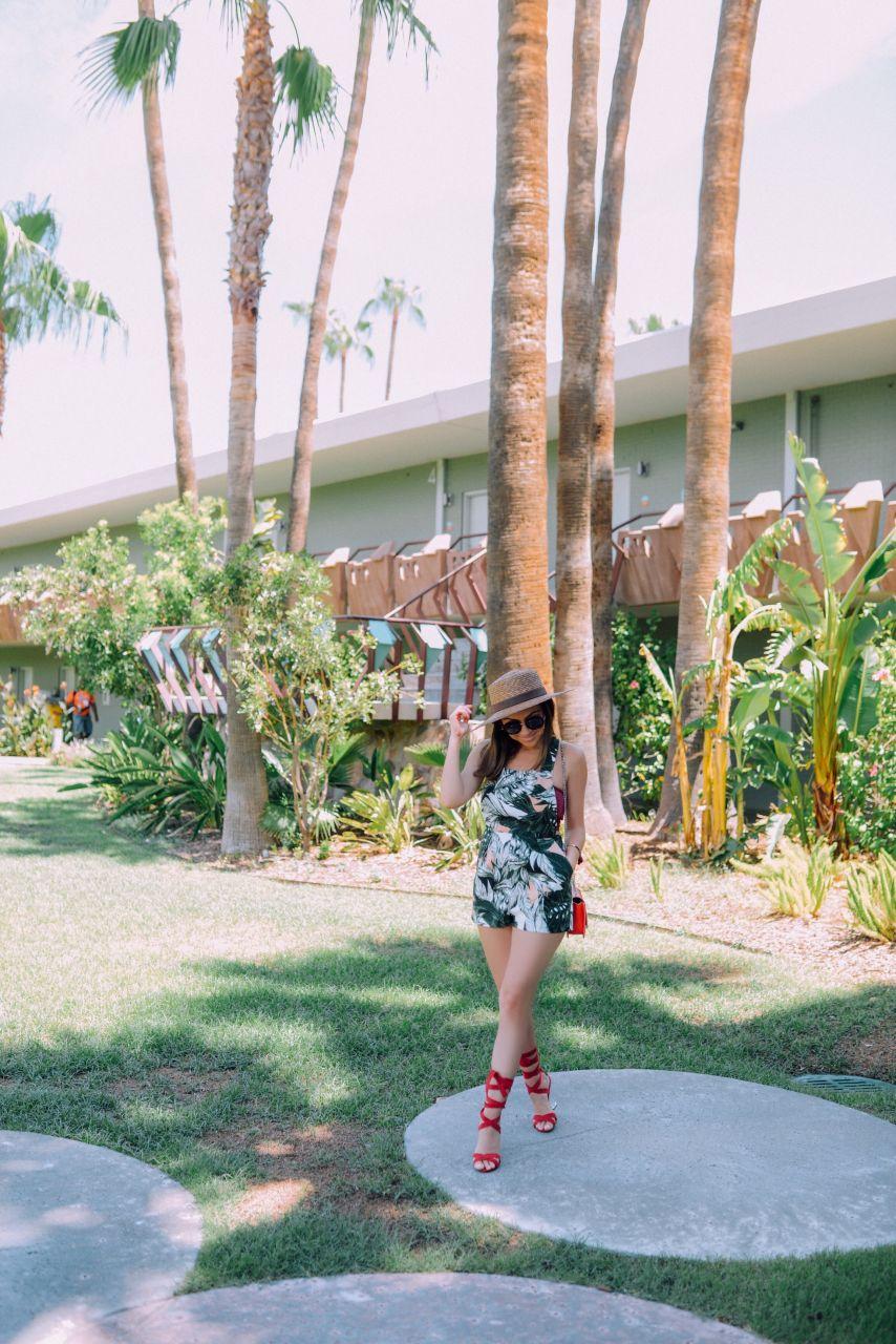 Palm print overalls 1