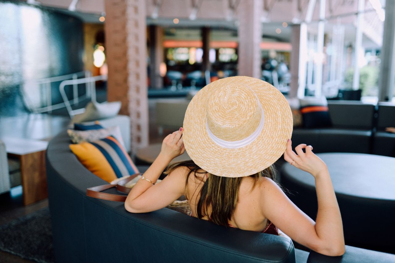 Pineapple princess - mango straw boater hat