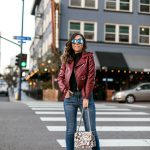Burgundy Biker Jackets