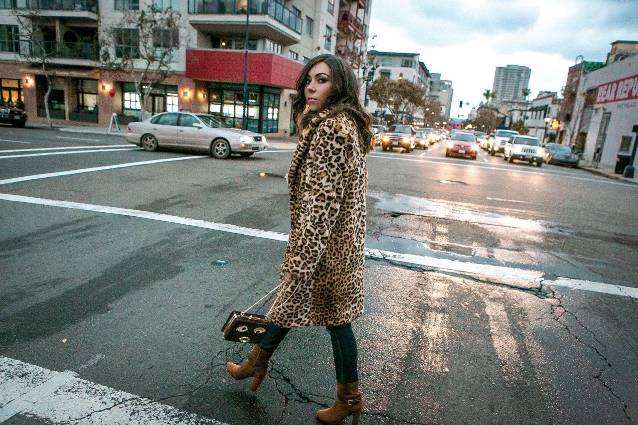 Winter Essential: Faux-Fur Leopard Coat