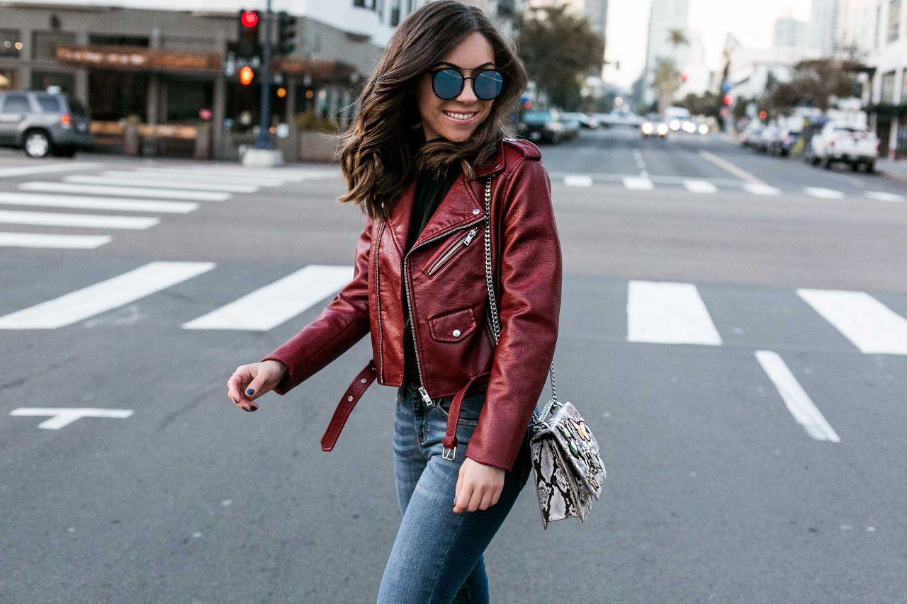 Biker Jacket Cool in Downtown San Diego