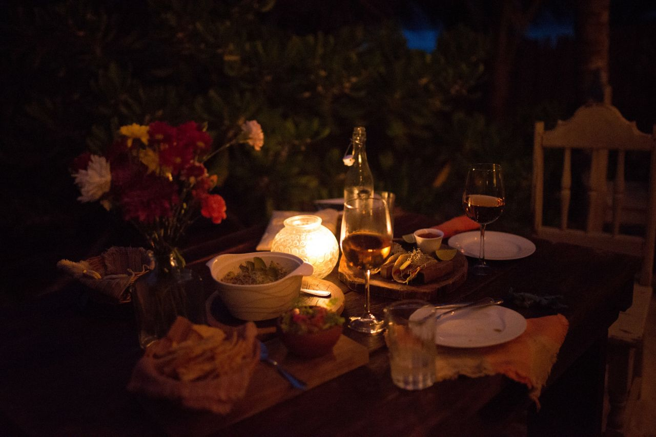 Dinner at Nest Tulum