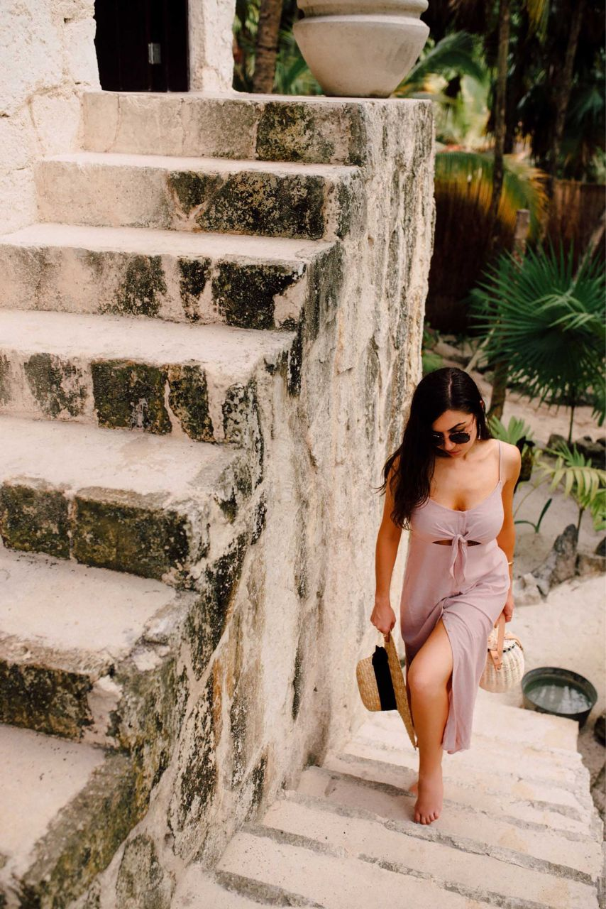 Style with Nihan wearing Topshop Slip Dress in Nest Tulum
