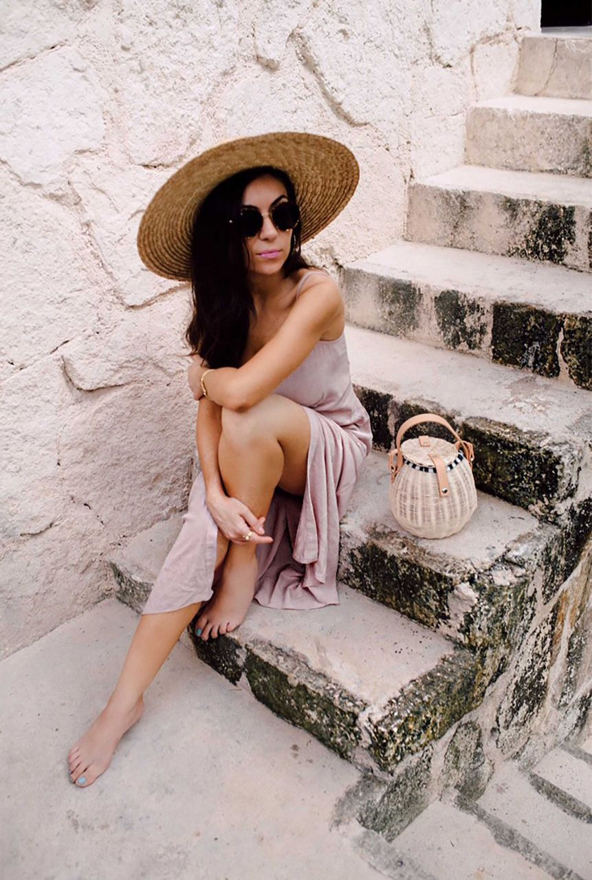 Nihancik wearing Topshop slip dress