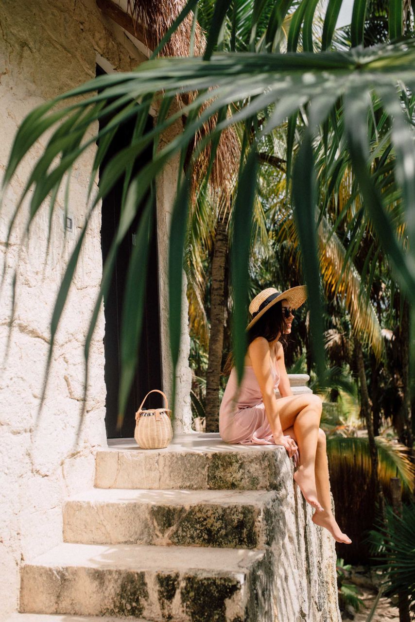 Travel Blogger NIhan at Nest Tulum in Mexico