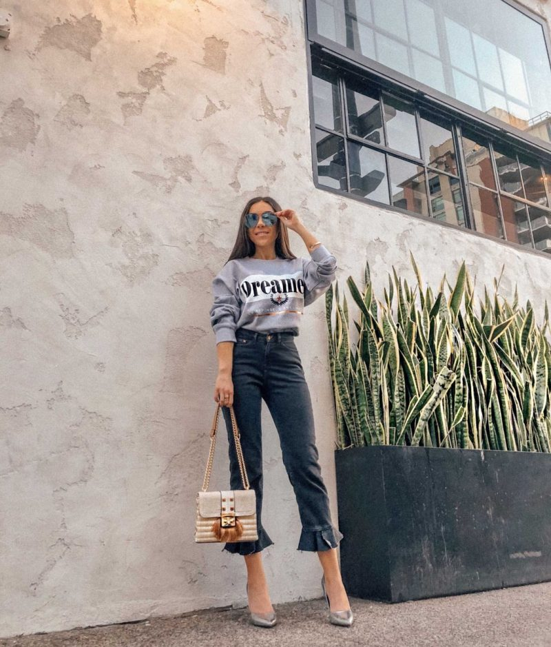 How to make an oversized sweatshirt look chic with River Island