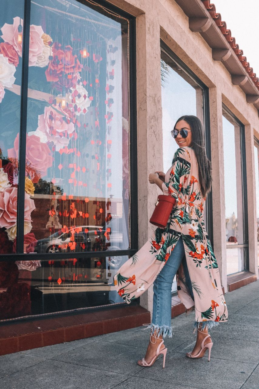 How to style the duster coat/kimono trend if you're petite