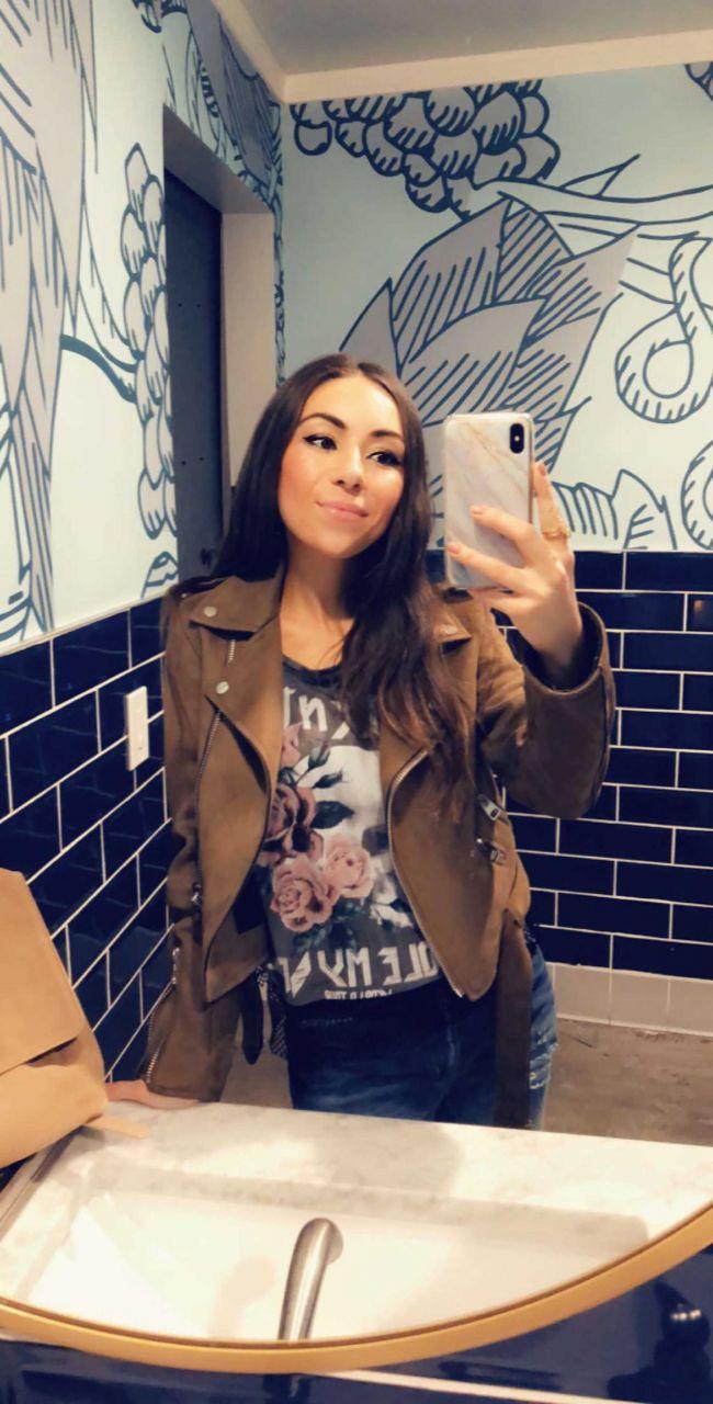 You & Yours Distillery San Diego bathroom selfie