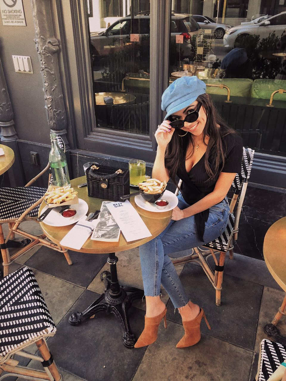 Style with Nihan wearing River Island Mules DTLA Ace Hotel.