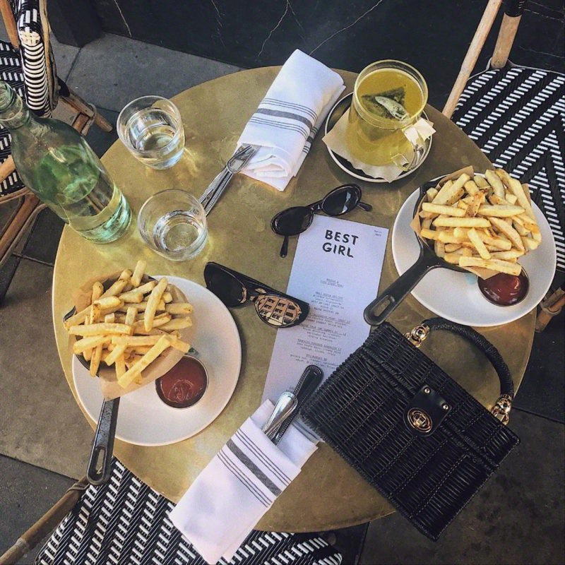 Truffle french fries at Best Girl Ace Hotel DTLA