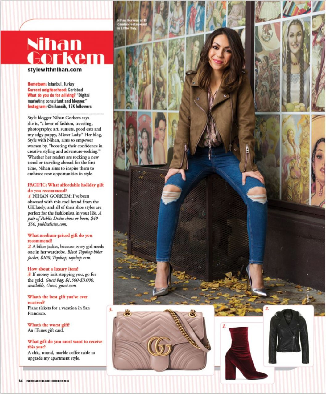 Pacific San Diego Magazine Style with Nihan feature