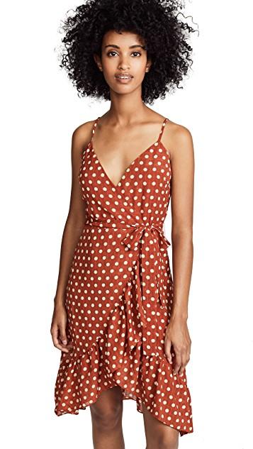 J.O.A. Polka Dot Wrap Dress ShopBop