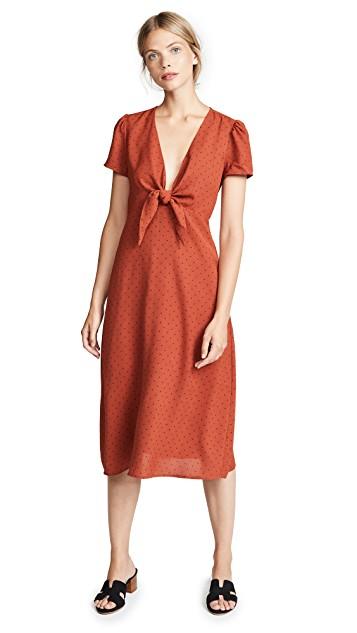 re:named Polka Dot Midi Dress ShopBop