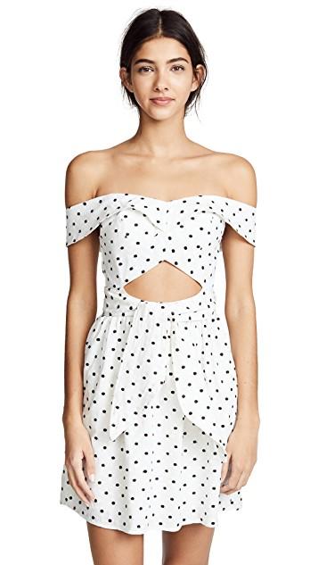 WAYF Capri Knotted Cutout White Mini Dress ShopBop