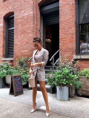 Style_Blogger_Nihan_Gorkem_wearing_Revolve_Blazer_dress_public_desire_high_heels_Chelsea_Manhattan