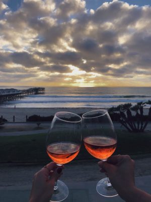 Happy Hour Rosé and sunset at JRDN Tower23 Hotel San Diego