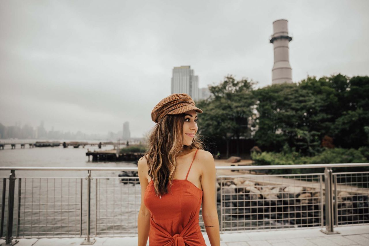 Fall 2018 Hat Trend Urban Outfitters Fisherman's Cap Majorelle Dress in Brooklyn