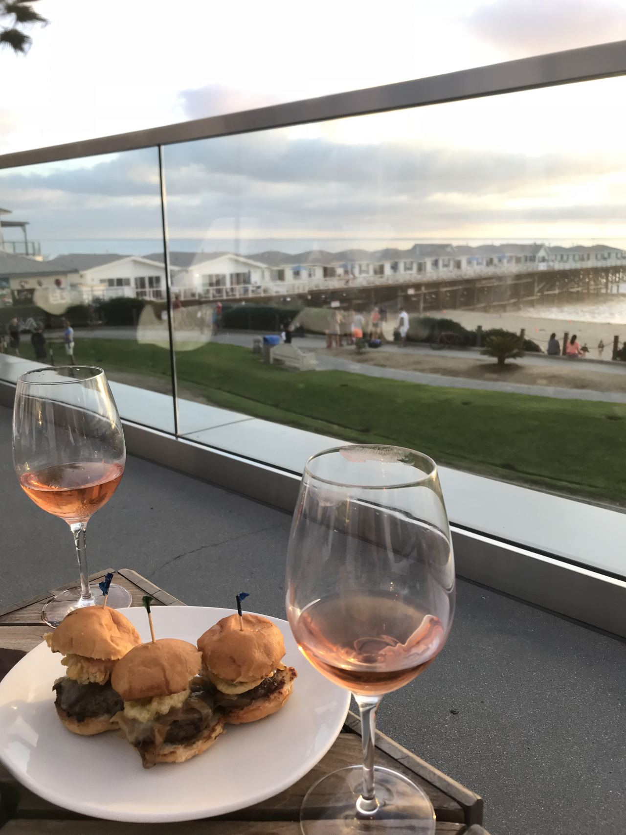 Sliders and Rosé at JRDN Tower23 Hotel San Diego