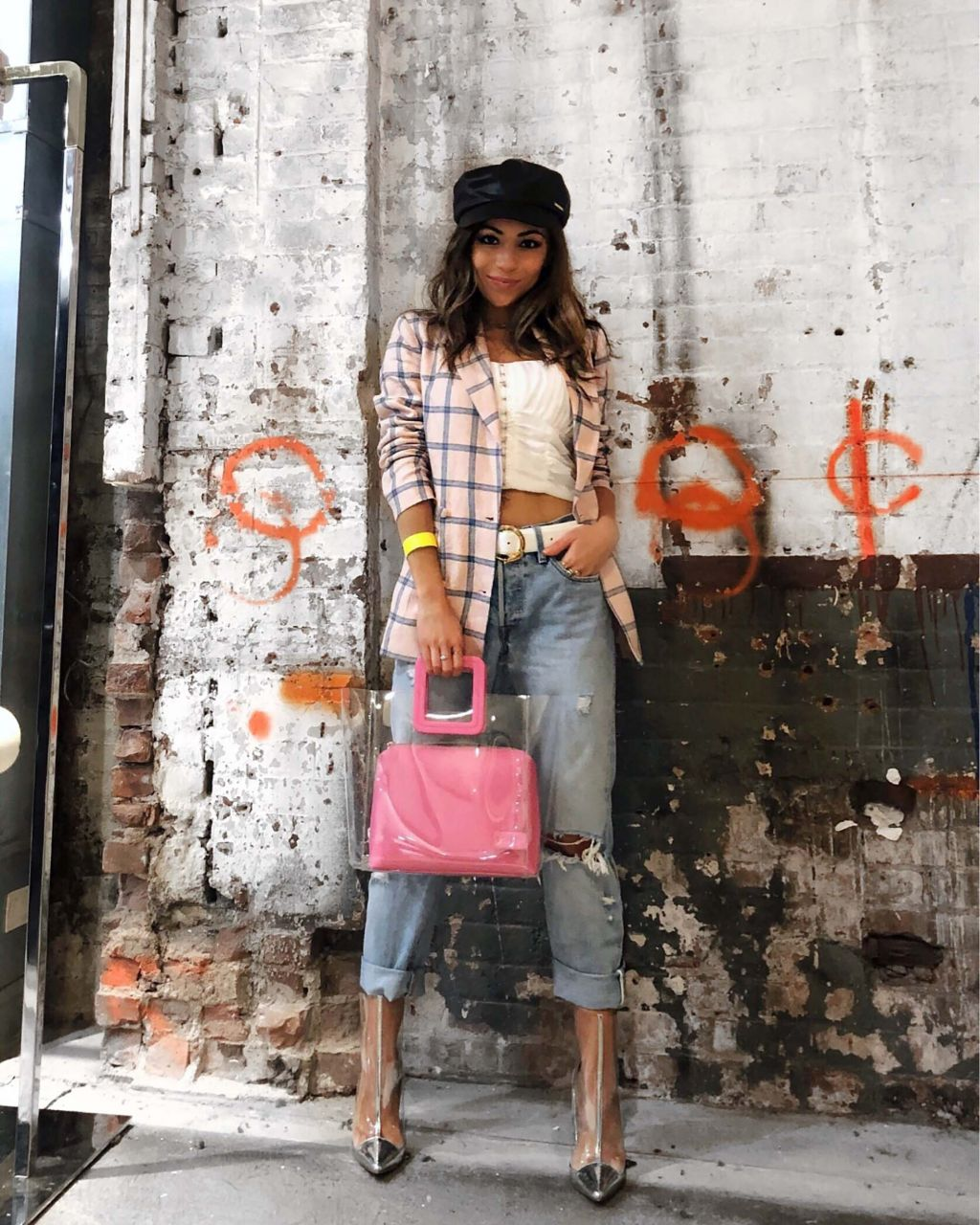 Revolve_Blazer_Levis_Jeans_raye_boots_Staud_Bag_River_Island_Fishermans_Hat_New_York_Fashion_Week