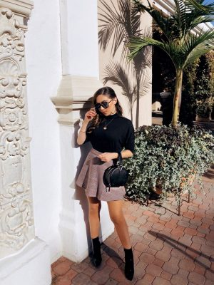 Style_with_Nihan_Mango_metal_handle_circle_bag_Public_Desire_boots_Revolve_Mini_skirt_Del_Mar_Racetrack_brunch